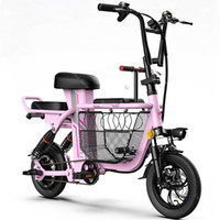 Wholesale 48v scooter batteries resale online - Kick Scooter Electric Electric Bicycles Mini Inch W V Portable Folding Electric Bike Removable Battery Pet Basket GPS