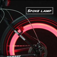 ingrosso accessori per bici a caldo-Bici ha parlato la luce LED in bicicletta la luce d'avvertimento MTB Accessori Notte Cavaliere Variable Speed ​​Bike Colorful Hot Wheels