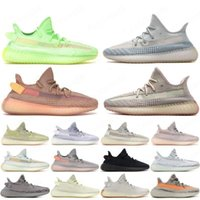Wholesale hot Kanye West Static Running Shoes New Israfil Cinder Desert Sage Earth Tail Light Zebra Womens Mens Trainers Sneakers