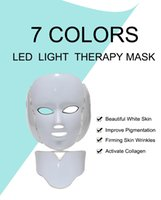 2020 New 7 Colors Led Light Beauty Facial Therapy Skin Care Face Whitening Machine Phototherapy Neck PDT Led Mask
