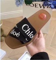 Wholesale Designer Shoes Women BOM DIA FLAT MULE Slide Sandal Fashion Lady Letter Print Leather Rubber Sole Slipper with with original box