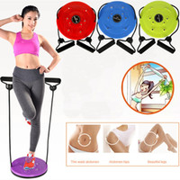 Wholesale massage twister resale online - DHL Waist Twist Board With Belt Fitness Foot Massage Plate Twister Exercise Gear Workout Home Gym Body Building Fitness Equipment