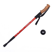 Wholesale red handle grips for sale - Group buy Outdoors Trumpet Cork Trekking Poles Ultra Light Telescopic Alpenstock Multi Function Straight Handle Hiking Walking Stick ZZA2499