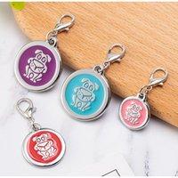 Blank Circle Pet ID Tags Dog Name Tags 100pcs lot wholesale Zinc Alloy Dog Design Pendants