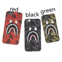 Wholesale shark electronics for sale - Group buy For iPhone X Phone Box Fashion Camouflage Shark Mouth Pattern Matte Hard PC Cases For iPhone s Plus Cover Coque DHL Free