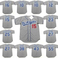Wholesale Los Angeles RICKEY HENDERSON KEVIN BROWN MATT KEMP ERIC GAGNE RAUL MONDESI OREL HERSHISER baseball jersey stitched