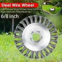 200mm Steel Wire Grass Trimmer Head Tray Brush Cutter Rotary Wheel Edge Head Break proof Safe Strimmer For Lawn Mover Parts Tool