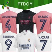Wholesale real madrid uniforms for sale - Group buy 2020 REAL MADRID jerseys soccer jersey HAZARD SERGIO RAMOS BENZEMA VINICIUS camiseta football shirt uniforms men kids kit sets