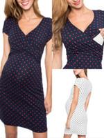 Wholesale nursing dress for sale - Group buy 2020 Women Pregnant Maternity Nursing Breastfeeding Summer Dress beach clothes for pregnant women T shirt vestidos de maternidad