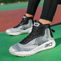 Wholesale curry shoes for sale - Group buy 2020 Outdoor Sports Basketball Shoes Men Women Breathable High Top Basketball Sneakers Light Shockproof Athletic Shoes Curry