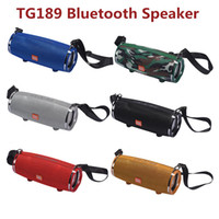 Wholesale portable sd card player resale online - TG189 Portable Big Wireless Bluetooth Speaker Music Mp3 Player Super Bass Waterproof Subwoofer SD Card Player with mic with shoulder