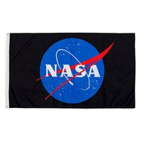 Discount nasa flag NASA Flag Blue 100D Polyester Digital Printing Sports Team School Club Inddor Outdoor Use Free Shipping