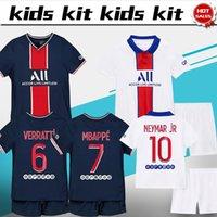 Wholesale paris uniforms for sale - Group buy Kids Kit Paris home MBAPPE NEYMAR JR Boys soccer Jerseys Child shirt paris away ICARDI Football uniforms Customized
