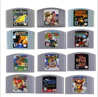 Wholesale video game cartridges for sale - Group buy Repro Video Game Cartridges for N64 Console Stunt Race Mario Kart Harvest Moon Super Smash Bros ZELDA Conker s Bad Fur Day