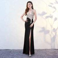 Wholesale beaded office dress resale online - Sexy beaded dress at night Office Lady Polyester Sheath Sleeveless Solid Zippers Floor Length Regular