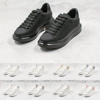 Wholesale white high top platform resale online - Male Female Designer Sneakers High Quality Classic White Shoes Top Leather Fashion Platform Shoes Flat Casual Trainers for Man Woman D0721