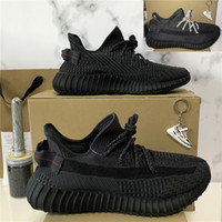 Wholesale newest shoes out for sale - Group buy 2020 Newest TOP Quality Kanye West Men Women Running Shoes Yecheil Yeezreel Tail light Static Reflective Zebra Linen with half size