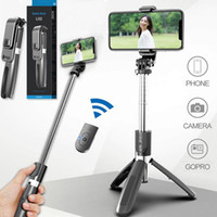 Wholesale smartphone shutter for sale - Group buy L02 Selfie Stick phone holder Monopod Bluetooth Tripod Foldable with Wireless Remote Shutter for Smartphone with Retail Box MQ20