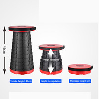Wholesale folding camp chair stool for sale - Group buy Portable Retractable Stool Outdoor Folding Chair Subway Park Dormitory Line Up Outdoor Camping Portable Fishing Chair Garden Travel Stool