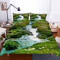 Wholesale hot 3d bedding set resale online - Home Textiles d Bedding Set King Size Duvet Cover And Pillowcase Bedclothes Rivers And Natural Scenery Hot Sell