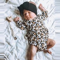 Wholesale onesies kids clothing for sale - Group buy Autumn Winter Toddler Newborn Bodysuit Infant Baby Boys Girls Leopard print Ruffled Jumpauit Sunsuit Casual Onesies kid clothing