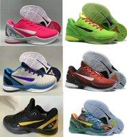 Wholesale b store shoes resale online - 2020 New Grinch Black Mamba VI Del Sol shoes for sale KB Bryant hot men Basketball shoes store US7 US12 LeBron James