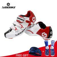 Wholesale bikes shoes resale online - Men Athletic Cycling Bike Shoes Road Bicycle Sport Shoes Sneakers Autolock Sapato Ciclismo EUR Size