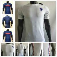 Wholesale Player version France jersey MBAPPE GRIEZMANN POGBA anniversary Soccer jersey Football shirt training wear kit maillot de foot