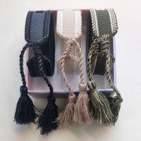 Wholesale quality fashion jewelry set resale online - Luxury Designer Jewelry Women Men Bracelets Fashion Braided Tassel Bracelet Style High Quality Embroidered Lovers Bracelet Designer