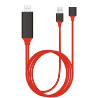 Wholesale carton types resale online - 1M FT Universal HDMI Cable PLUG AND PLAY HDTV TV Adapter Digital AV Cable P Phone to TV USB TO Type C Micro