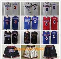 maillots de basket or noir achat en gros de-Mens Philadelphie