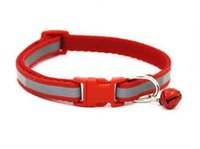 Wholesale make dog collars resale online - Colorful Reflect Collar Light with Bell Dog Cat Nylon Adjustable Fashion Available Makes Your Dog Visible Safe Seen Blinking