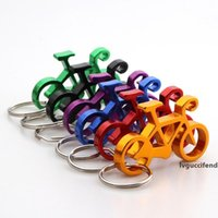 Wholesale bicycle keychain bottle opener resale online - Bike Shaped Wine Openers Keychain Bicycle Keyring Bottle Wine Beer Opener Tool Muilti Colors