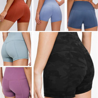 yoga women shorts leggings designer womens icon workout gym align wear lu 68 solid color sports elastic fitness lady overall lulu tights short