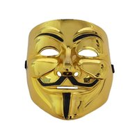 Wholesale v for vendetta cosplay resale online - 50pcs New Halloween Mask Costume Party Cosplay Halloween Party Guy Fawkes V FOR Vendetta Anonymous Adult Party Mask AHA466