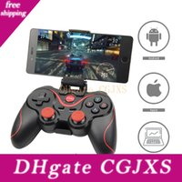 Wholesale ps3 android resale online - Joystick Android Gamepad Remote Controller X3 Wireless Bluetooth Game Controller For Ps3 Android Tablet Pc Smartphone With Clip Adapter