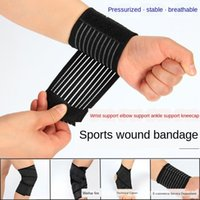 Wholesale male elbow resale online - l8QxT Ankle Stretch fitness exercise pressure exercise sprain kneecap Basketball Basketball winding bandage male elbow guard wrist guard run