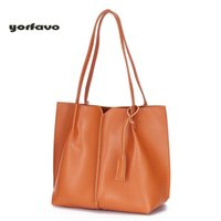 Wholesale new style handbags prices resale online - price High quality New European and American style solid color women bag with large capacity genuine leather handbag