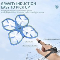 Wholesale coolest rc toys resale online - RC Drone UFO Toys Gravity Iduction Four Axis Remote Control Drone Cool Light Sensing Gesture Electronic Quadcopter Model Kids Boys Gift