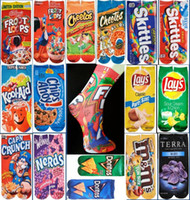 Wholesale 3d chips online – custom 30 cm lovers Adult Unisex Kids D Printed Cartoon Socks Cheerlead Cer Socks Sports Stocking Multicolors chips Doughnut Snacks D Socks