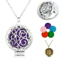 Wholesale Premium Diffuser Locket For Aromatherapy Styles Oil Women Chain Necklaces Stainless Essential Pendant Sweater Heart Lucky Steel B420q iMr