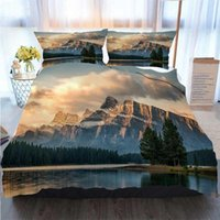 Wholesale two jack for sale - Group buy Merry Christmas Duvet Cover Set Autumn Sunrise On Mount Rundle From Two Jack Lake Banff Duvet Cover Designer Bed Comforters Sets