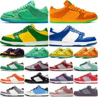Wholesale skateboard shoes for women for sale - Group buy 2020 SS new color Men Womens Skateboard Shoes shoes for men women sneakers DUNK white green yellow low high student youth running casual