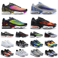 Wholesale womens boot camp resale online - 2020 plus tn men women running shoes triple white Black Hyper Blue Green Volt Grey mens womens trainers sports sneakers runners