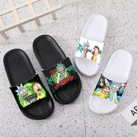 Wholesale slippers for girls resale online - Slippers women slides for men for kids casual men shoes home sneakers shower Rick and Morty flip flops sandals woman girls