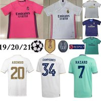 Wholesale green yellow soccer shirt for sale - Group buy 20 Real Madrid home HAZARD Soccer Jersey Thai Top quality MODRIC Marcelo Man Football shirt BALE ASENSIO Third Kit soccer jersey