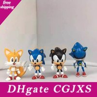 Wholesale pop figure for sale - Group buy Sonic Boom Amy Rose Sticks Tails Werehog Pvc Action Figures Knuckles Dr Eggman Anime Pop Figurines Dolls Kids Toys For Children Gifts