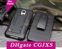 Wholesale galaxy s6 holster online – custom For Iphone s Plus s Galaxy S7 S6 Edge S5 Robot Combo Heavy Duty Future Armor Kickstand Holster Belt Clip Case