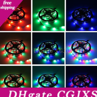 Wholesale white led christmas lights rolls for sale - Group buy Led Strip Lights Smd Warm White Red Green Blue Rgb Flexible m Roll Leds Ribbon Waterproof Non Waterproof Christmas Lights