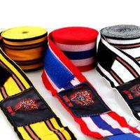 Wholesale wrist wraps resale online - 2pcs m m Boxing Handwraps Bandage Punching Hand Wraps MuayThai Boxing Taekwondo Training Gloves Wrist Protect Fist Punch